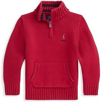 Ralph Lauren Little Boy's & Boy's Combed Cotton Mockneck Sweater