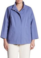 Lafayette 148 New York, Plus Size Susanne Patch Pocket Jacket