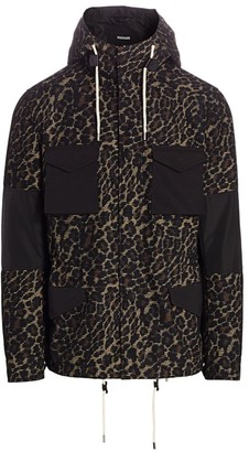 Mackage Warren Cheetah Contrast-Patch Jacket