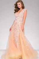 Jovani Lace Applique Sleeveless Pageant Dress 45825