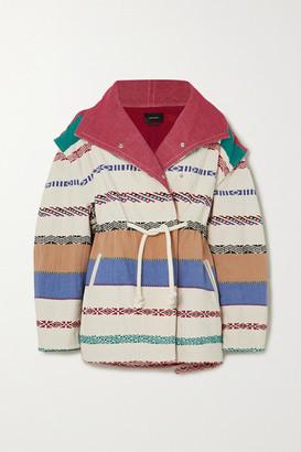 Isabel Marant Belia Oversized Embroidered Cotton-blend Canvas Jacket - White
