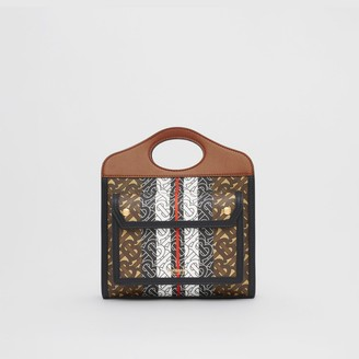 Burberry Mini Monogram Stripe E-canvas Pocket Bag