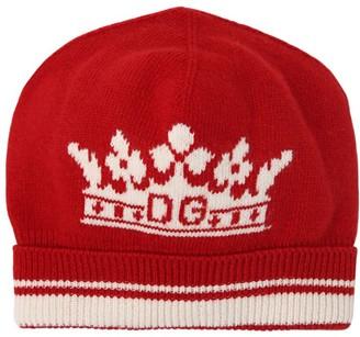 Dolce & Gabbana Logo Wool & Cashmere Intarsia Knit Hat