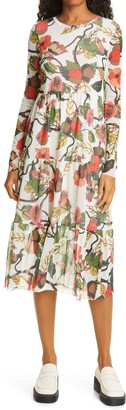 Baum und Pferdgarten Jocelina Floral Long Sleeve Midi Dress