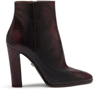Dolce & Gabbana Embossed Chunky-Heel Ankle Boots