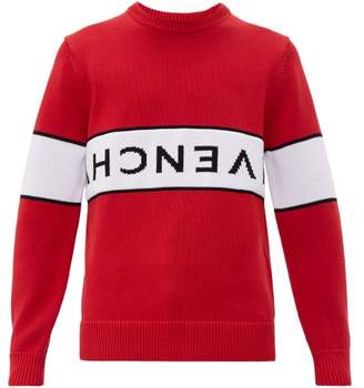 Givenchy Reverse Logo Cotton Sweater - Mens - Red White