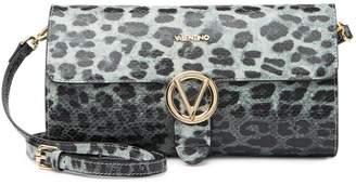 Mario Valentino Marbelle Snake Embossed Leather Shoulder Bag