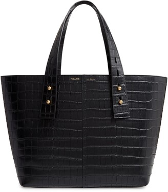 Frame Les Second Medium Embossed Leather Tote