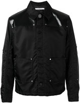 Givenchy faux leather-panelled jacket - men - Cotton/Polyamide/Polyurethane - 48