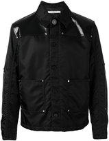 Givenchy faux leather-panelled jacket - men - Polyamide/Polyurethane/Cotton - 48