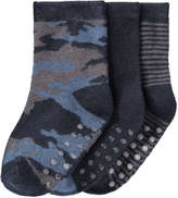 Joe Fresh Baby Boys' 3 Pack Camo Print Socks, JF Midnight Blue (Size 0-12)