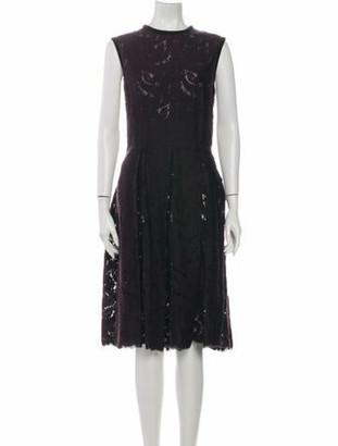 Lanvin 2006 Midi Length Dress Black