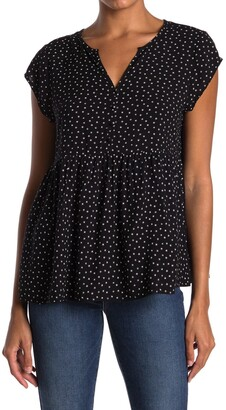 Caslon Short Sleeve Swing Blouse