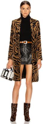 Nili Lotan Rosalin Coat in Small Bronze Tiger Print | FWRD