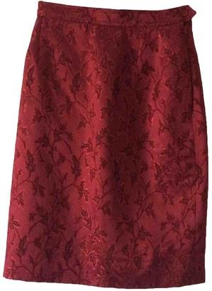 Saint Laurent Burgundy Skirt for Women Vintage