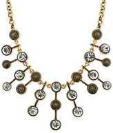 2028 Necklace Gold-Tone Antique-Look Crystal Statement Necklace