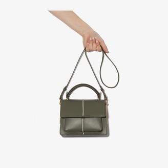 Marni green Attache mini leather cross body bag