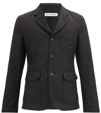 Comme des Garçons Shirt Patch-pocket Single-breasted Twill Jacket - Black