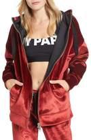 Ivy Park Women's Velvet Zip Hoodie