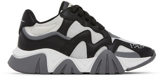Versace White and Black Squalo Sneakers