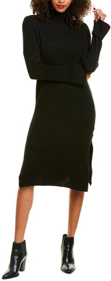 Revive Cashmere Ribbed Wool & Cashmere-Blend Sweaterdress