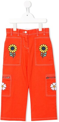 Stella Mccartney Kids Embroidered Floral Straight-Leg Jeans