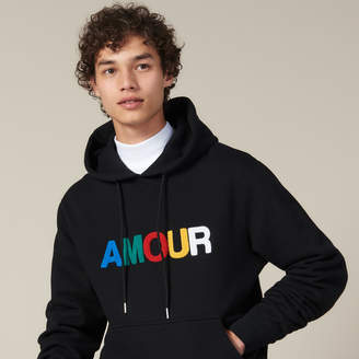 Sandro Hoodie With Amour Patch