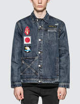 """Profound Aesthetic """"We Are Our Choices"""" Dark Washed Denim Patch Jacket"""