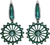 SILVIA FURMANOVICH Carved Green Jade Earrings