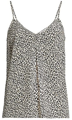 Frame Animal Print Silk Cami