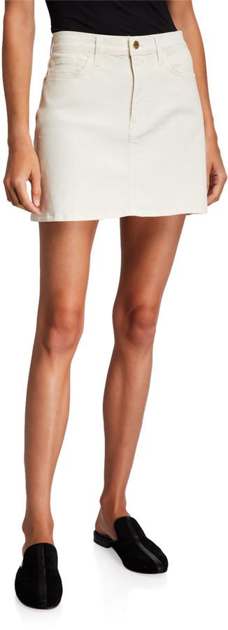 Frame Le Mini Coated Skirt