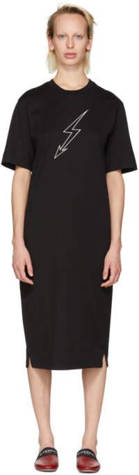 Givenchy Black Lightning Bolt World Tour T-Shirt Dress