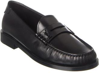Saint Laurent Monogram Leather Loafer