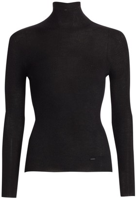 Akris Seamless Cashmere & Silk Turtleneck Sweater