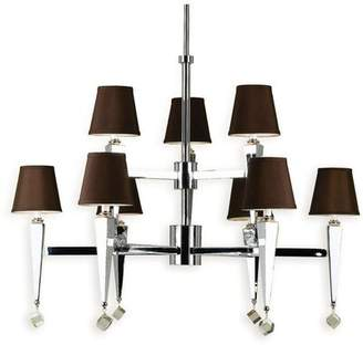 AF Lighting 9-Light Shaded Tiered Chandelier Shade Color: Chocolate
