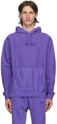 Awake NY Purple Embroidered Logo Hoodie