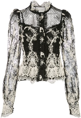 Alexis embroidred lace blouse