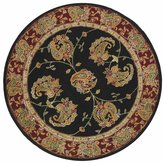 Safavieh TD607A-8R Traditions Collection Handmade Wool Round Area Rug, 8-Feet in Diameter