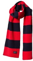 Gant Knitted Navy and Red Striped Scarf