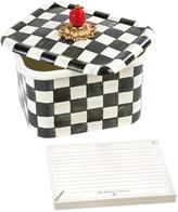 Mackenzie Childs Courtly Check Enamel Recipe Box