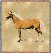 Dickens & Smyth Palomino II Horse Woven Lap Square (Throw Blanket)