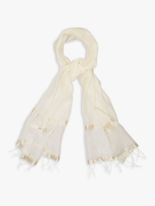 Phase Eight Minne Silk Blend Scarf, Oyster