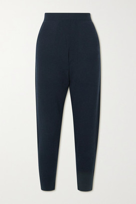 Allude Cashmere Tapered Pants - Navy