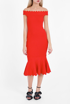 Jonathan Simkhai Diamond-Knit Trumpet Dress