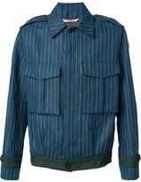 Umit Benan pinstriped cargo jacket - men - Cotton/Linen/Flax - 46
