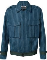 Umit Benan pinstriped cargo jacket