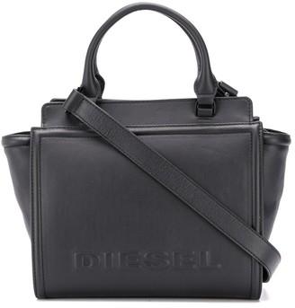 Diesel Leather satchel with embossed logo