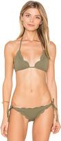 Marysia Swim Broadway Bikini Top in Green. - size XS (also in )