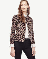 Ann Taylor Petite Spotted Collarless Jacket