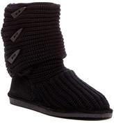 BearPaw Knit & Genuine Sheepskin Lined Boot